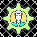 Cogwheel Gear Man Icon