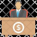 Manager Desk Dollar Icon
