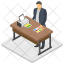 Manager Desk Icon
