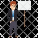 Employee Striking Protest Icon