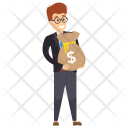 Manager with Money Sack Icon