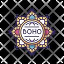 Mandala Boho Flower Icon