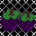 Manggis Fruit Healthy Icon