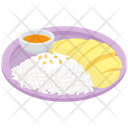 Mango Sticky Rice Thai Cuisine Thai Dessert Icon