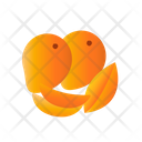Mango With Slice Mango Fruit Icon