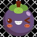 Mangosteen Fruit Face Icon