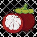 Mangosteen Fruit Fresh Icon
