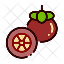 Fruit Food Mangosteen Icon