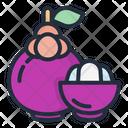 Mangosteen Fruit Food Icon