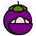 Mangosteen Tropical Exotic Icon