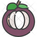 Mangosteen Berry Food Icon