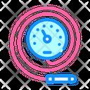Manometric Thermometer Color Icon