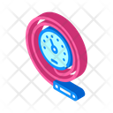 Manometric Thermometer Isometric Icon