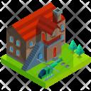 Mansion Villa Estate Icon