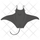 Manta Ray Fish Animal Icon