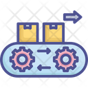 Factory Machine Manufacturing Icon