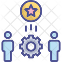 Factory Manufacturing Process Icon