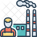 Manufacturing Smoke Factory Icon