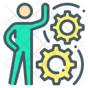 Person Manufacturing Gear Icon