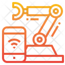 Manufacturing Communicate Internet Of Things Icon