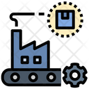 Manufacturing Launch Factory Icon