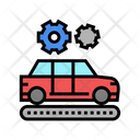 Manufacturing Car Color Icon