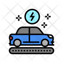 Manufacturing Electric Car Icon
