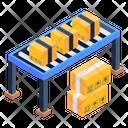 Conveyor Belt Manufacturing Belt Assembly Line Icon