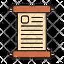 Manuscript Scripture Script Icon