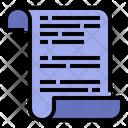 Scenarios Manuscript Script Icon