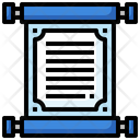 Manuscript Poetry Paper Scroll Icon