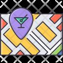 Map Pin Bar Icon