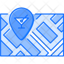 Map Pin Glass Icon
