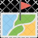Flag Map Kingdom Icon