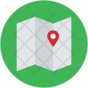 Unfolded Map Chart Icon