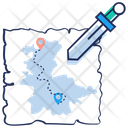 Map Treasure Map Pacemark Icon
