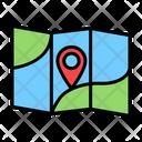 Map Traveling Destination Location Pointer Icon