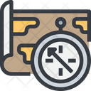 Map Compass Direction Icon