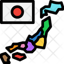 Map Japan Map Flag Icon