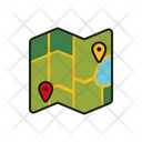 Map Location Travelling Location Icon