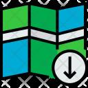 Map Arrow Locate Icon