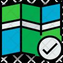 Map Check Locate Icon