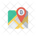 Map Bitcoin Location Icon