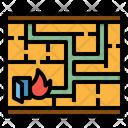 Map Emergency Plan Icon
