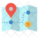 Map Pin Route Icon