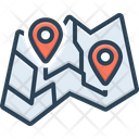 Map Delineation Route Icon