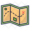 Map Hiking Travelling Icon