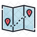 Map Travel Camping Icon