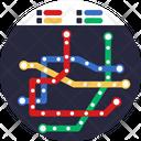 Public Transport Map Route Icon