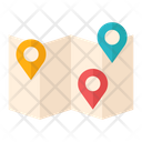 Map Camping Map Traveling Map Icon
